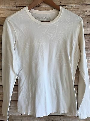 Patagonia Women's Cream Long Sleeve T-Shirt 100% Organic Cotton Medium