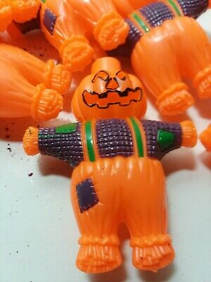 Blow Mold Halloween Vintage Pumpkin Scarecrow String Light Plastic Covers Set 19
