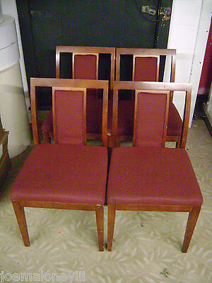 Paoli Wood Frame Burgundy Upholstered Office Guest Chair Set 4