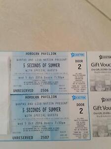 5 SECONDS OF SUMMER TICKETS X 2 Engadine Sutherland Area Preview