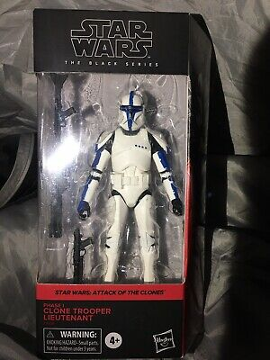 "Star Wars: CLONE LIEUTENANT Clone Wars 6"" BLACK SERIES Figure KENNER Vintage NIB"