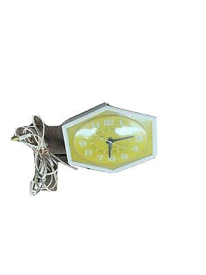 Vintage Gereral Electric Yellow Kitchen Wall Clock USA