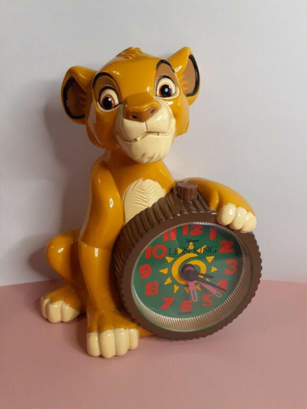 The Lion King Simba Clock 1994 Wonderland Music Company **Read