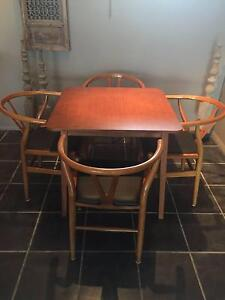 Hans Wegner Replica Wishbone Chairs x 4 and Dining Table O'Connell Oberon Area Preview