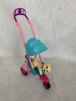 Barbie Stroller Pups Walking Jointed Taffy Dog Bobble Head Puppy Replacement