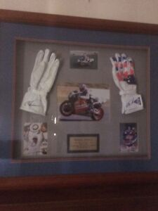 Michael Doohan Boxed Signed Gloves Mount Stuart Hobart City Preview