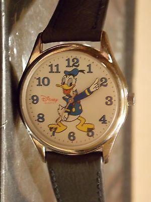 Womens Vintage Disney Donald Duck Watch (Disney Time Works)-(Silver-tone)HTF-New