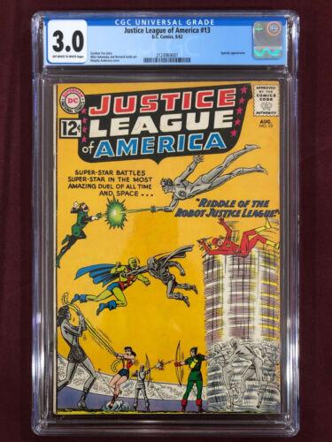 JUSTICE LEAGUE OF AMERICA CGC 3.0 Flash Green Lantern Wonder Woman 1962