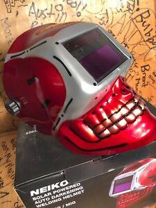 Custom tig/mig auto dimming solar powered welding helmet