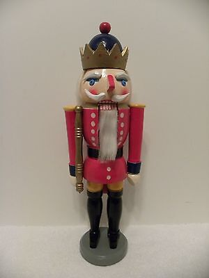 "Wood Nutcracker Guard Christmas Holiday 15"" tall"