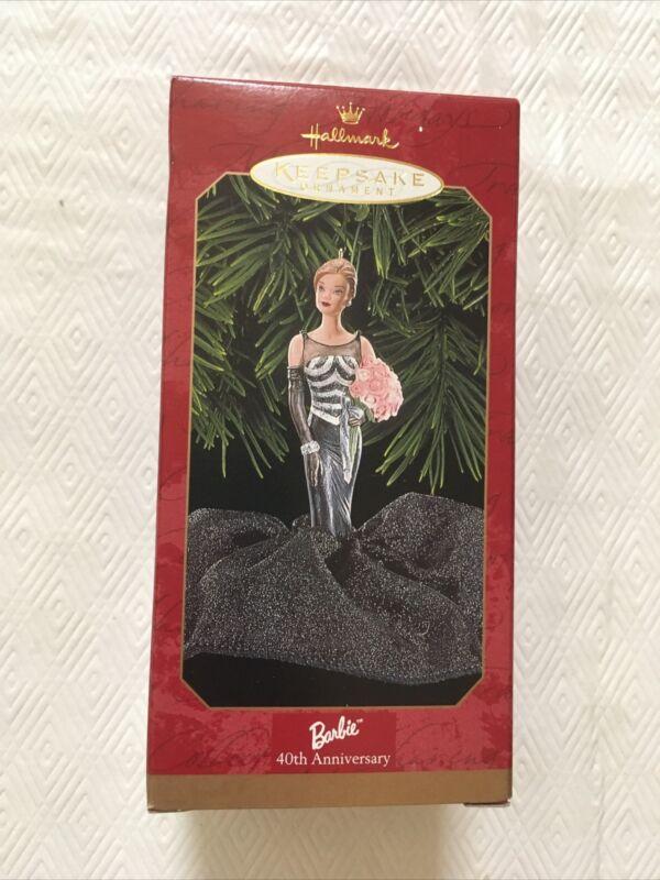 Hallmark 1999 BARBIE 40th Anniversary Keepsake Ornament Black Gown QXI8049