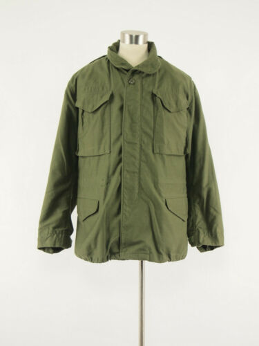 vintage 80s US Military cold weather field coat S