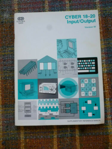CONTROL DATA CORPORATION CYBER 18-20 INPUT/OUTPUT WORKBOOK -  USED