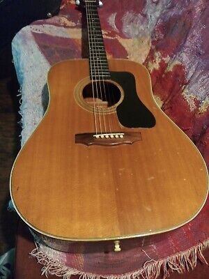 1973 Guild D44 Pearwood Acoustic Guitar