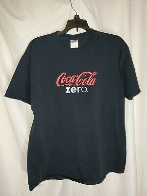 Coca Cola Zero Adult Black XL T -Shirt guc  free shipping