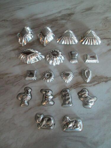 Vintage Metal Tin Molds Tarts Candy Dessert Lot of 18