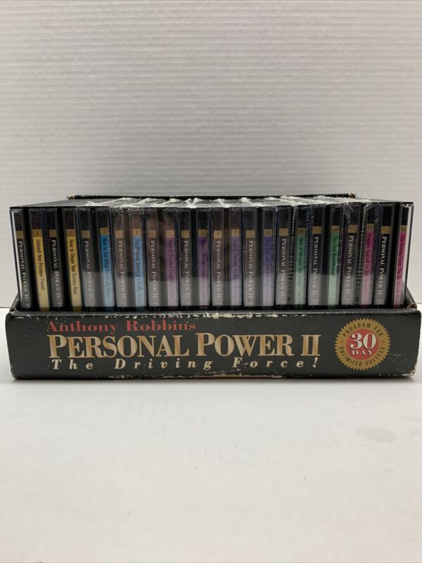 Anthony Robbins Personal Power II -The Driving Force! CDs ~ Most Sealed w/box