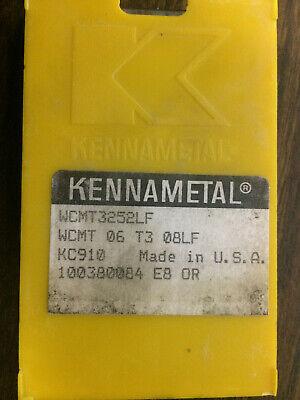 10 Pcs Kennametal Wcmt3252lf Kc910 Wcmt 06 T3 08lf Carbide Inserts
