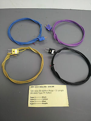 Thermocouple Wire Kits 5 20awg Type Tt Teflon Type Jkt And E Mfg