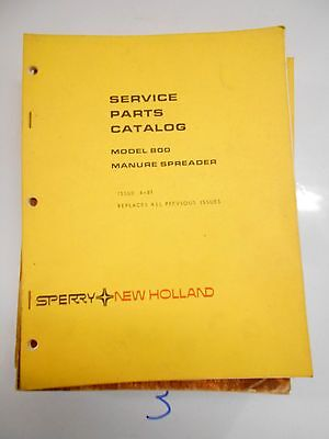 New Holland 800 Manure Spreader Parts Catalog Book Manual 481