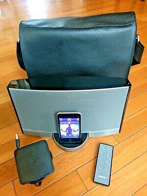 Bose SoundDock Portable Digital Wireless Music System Black iPod Bluetooth w Bag ()