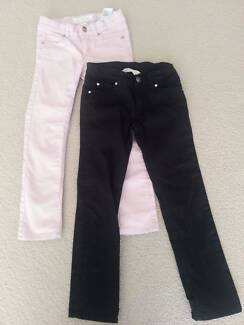 H&M Girls Jeans - Two Pairs: Black and Pale Pink - Size 6T