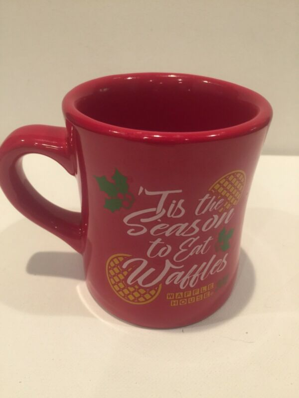 WAFFLE HOUSE 2018 CHRISTMAS MUG Red 'Tis The Season! Coffee Cup