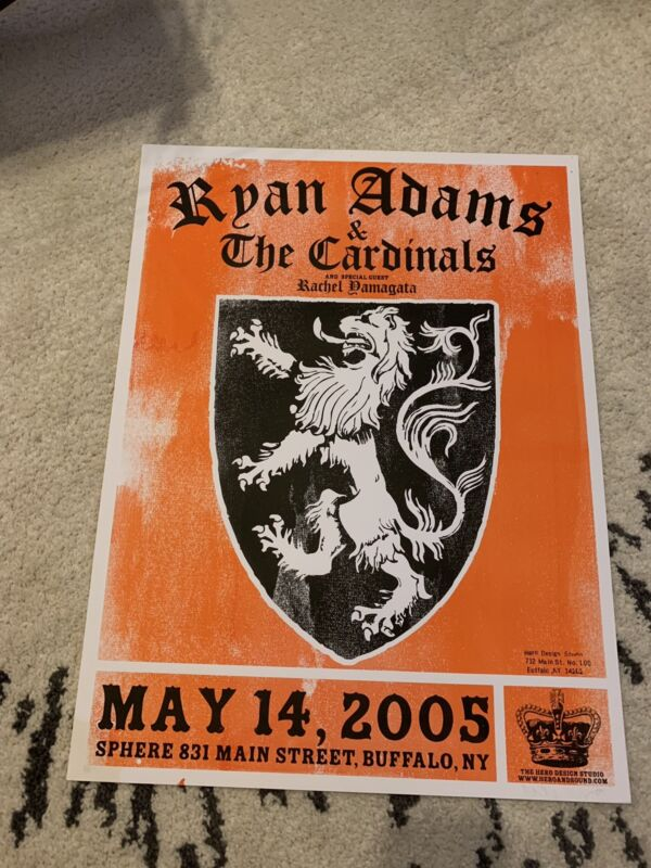 Ryan Adams and The Cardinals 2005 Cold Roses Tour Poster Buffalo NY 18x24