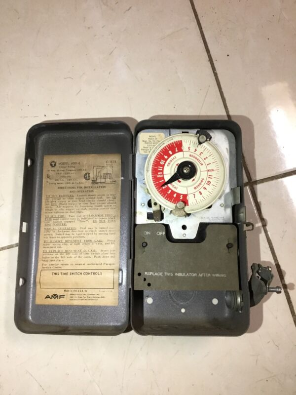 AMF Paragon 4001-0 24-Hour C-1878 ELECTRIC TIMER