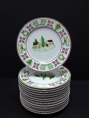 Saks Fifth Avenue CHRISTMAS SAMPLER Dessert/Salad Plates 7 1/2