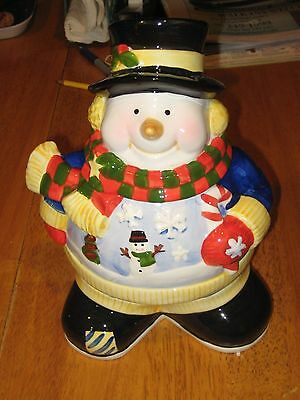 CHRISTMAS CERAMIC SNOWMAN COOKIE JAR