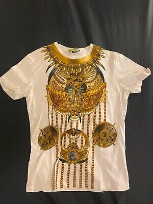 $195 Versace Jeans White Printed Cotton T-Shirt Medium M