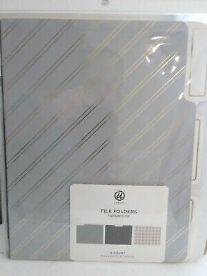 U Brands File Folders Farmhouse 3 Different Patterns 6 Count Free Shipping