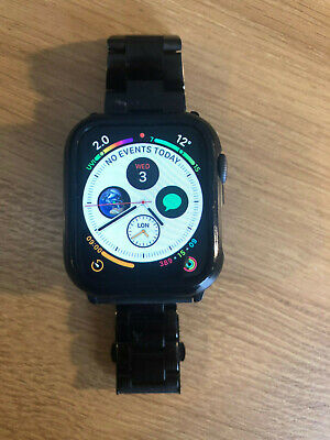 Apple Watch Series 4 Space Grey 44mm GPS VGC with accessories & warranty