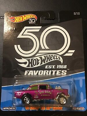 2018 Hot Wheels 55 Chevy Bel Air Gasser 50th Favorites Case B Real Riders