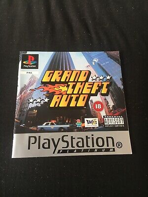 Grand Theft Auto - Sony Playstation 1 - Original Manual Only - Good Condition, used for sale  Shipping to Nigeria