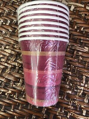 Merlot Stripe Party Supplies Wine themed Paper 9oz. Cups 8ct.