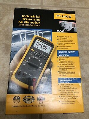 Fluke 87v Industrial Electrician Multimeter With Temperature New