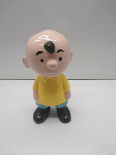 "Ceramic Peanuts Character Figurine Charlie Brown 9"" Tall Marked MB"
