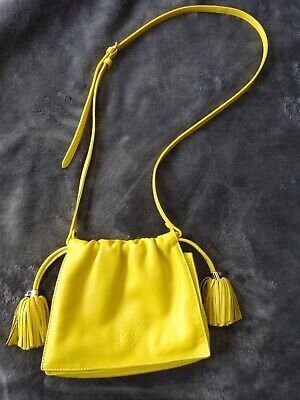LOEWE Flamenco Crossbody Yellow Napa Leather