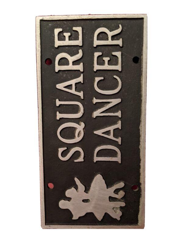 Square Dancing License Plate