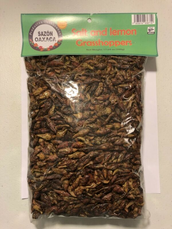 1.1 LBS. (1/2 Kg) Sal y Limon Chapulines (grasshoppers)- Gourmet edible insects