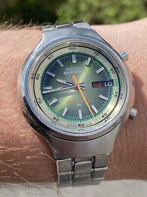 SEIKO 7015-8000 5 Sports Speedtimer Automatic Chronograph - 1973 - VGC Working