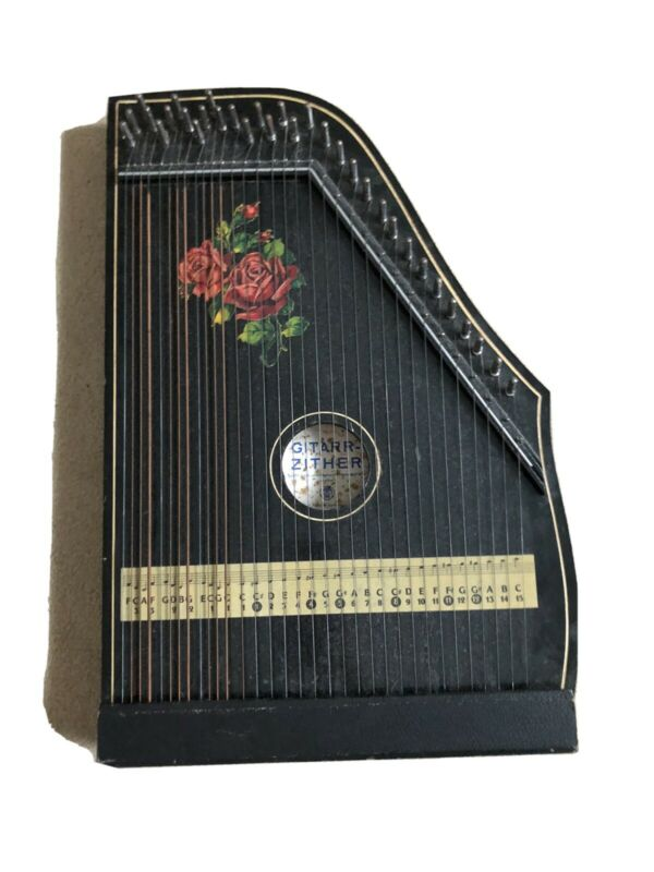 Vintage  Zither Lap Harp-West Germany