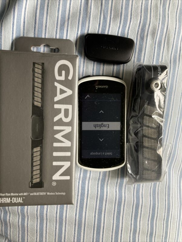 GARMIN EDGE 1030 AND  NEW Garmin HRM-Dual Heart Rate Monitor with Chest Strap