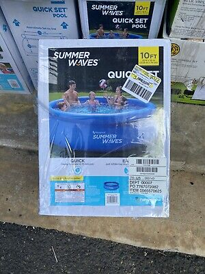 Summer Waves Intex 10ft x 30in Inflatable Quick Set Easy Set Above Ground Pool