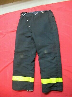 34 X 30 1985 Globe Firefighter Fire Pants Bunker Turnout Gear Vtg