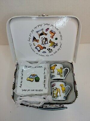 Cardew Design Doggie Teacup Set, Mans Best Friend, 2010