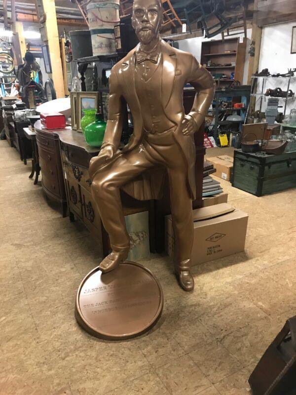 jack daniels statue 6 Feet Tall With Barrel Top Rare