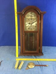 Vintage Waltham Tempus Fugit 31-Day Chiming Wall Clock 28 HAS SOME DAMAGE